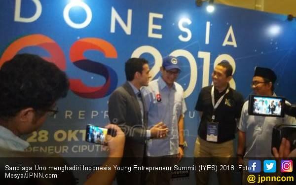 3 Tips Sandiaga untuk Generasi Milenial di Ajang IYES 2018 - JPNN.com