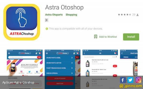 Astra Otoparts Luncurkan Aplikasi Belanja Suku Cadang - JPNN.com