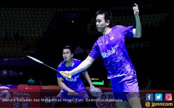 32 Menit! Ahsan / Hendra Tumbang di Laga Pertama Grup B - JPNN.com