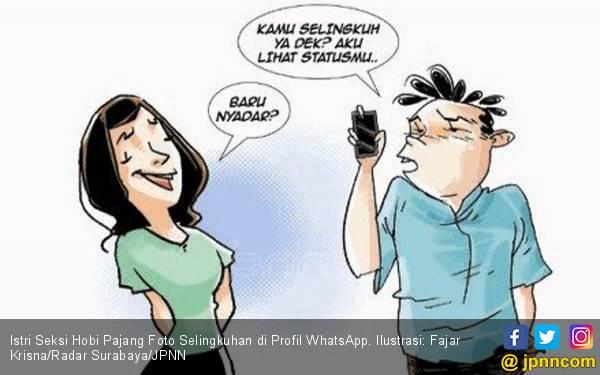 Istri Seksi Hobi Pajang Foto Selingkuhan di Profil WhatsApp - JPNN.com