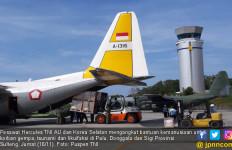 Pesawat TNI AU dan Korsel Angkut Bantuan Kemanusiaan ke Palu - JPNN.com