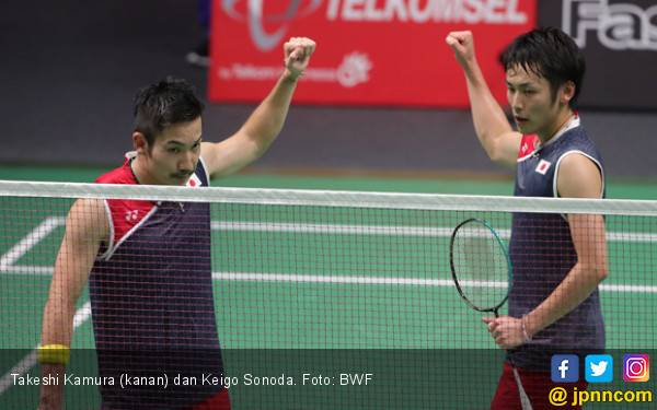 Kamura / Sonoda Bangga Kalahkan Ahsan / Hendra di Final Singapore Open 2019 - JPNN.com