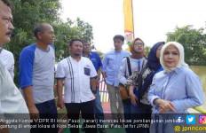 Intan Fauzi Kawal Pembangunan Jembatan Gantung Kota Bekasi - JPNN.com