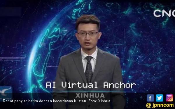 Robot AI Kini Jadi Tim Penyiar Berita di Cina - JPNN.com