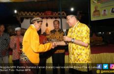 Pujakesuma Antusias Tonton Wayang Kulit Sosialiasi 4 Pilar - JPNN.com