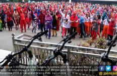 Ribuan Guru Antusias Ikuti Sepeda Nusantara 2018 Etape Maros - JPNN.com