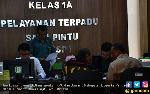 KPU dan Bawaslu Kabupaten Bogor Dilaporkan ke PN Cibinong - JPNN.com