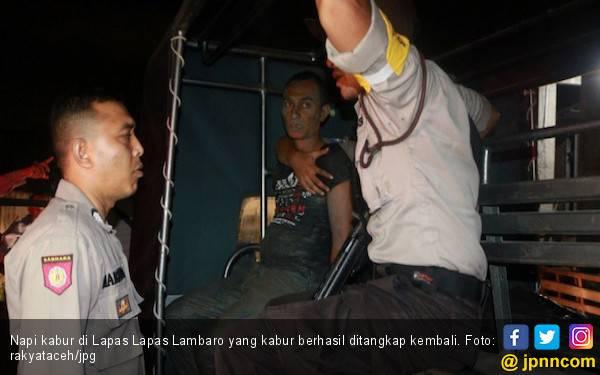 87 Napi Lapas Lambaro Belum Ketangkap, Polisi Terbitkan DPO - JPNN.com