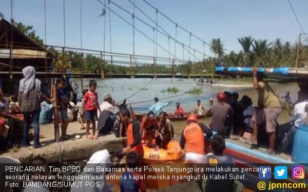 Antena Kapal Tersangkut Kabel Sutet, Nelayan Langkat Tewas - JPNN.com