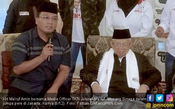 Kiai Ma'ruf Pilih Dekati Wartawan Ketimbang seperti Prabowo - JPNN.com
