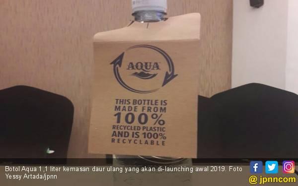 Danone Bakal Pasarkan Aqua 1,1 Liter Kemasan Daur Ulang - JPNN.com