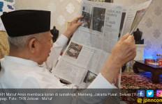 Kiai Ma'ruf Rutin Baca Koran Tanpa Kacamata, Nih Fotonya - JPNN.com
