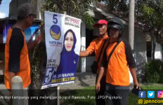 Dalam Sebulan 306 Spanduk - Baliho Kampanye Ditertibkan - JPNN.com