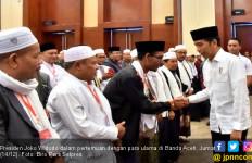 Kebahagiaan Presiden Jokowi Bertemu Ratusan Ulama Aceh - JPNN.com