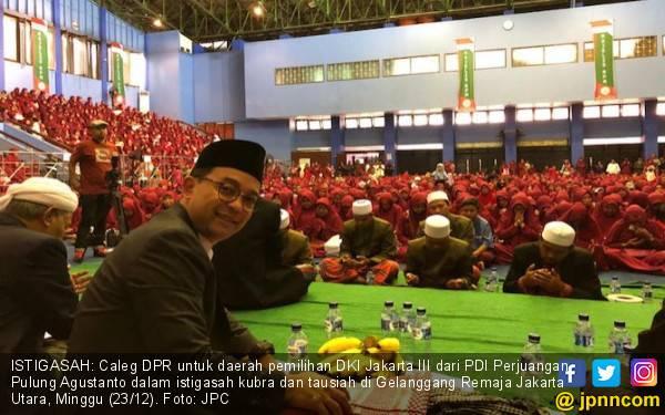 Gema Yaa Lal Wathan & Salam 1 Jempol di Istigasah Caleg PDIP - JPNN.com