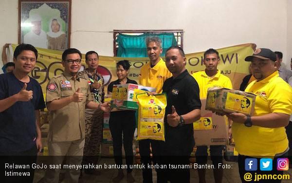 Relawan Gojo Salurkan Bantuan untuk Korban Tsunami Banten - JPNN.com