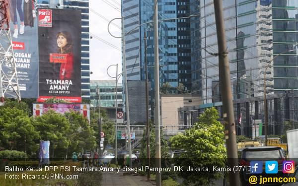 Baliho Tsamara Amany Disegel Pemprov DKI, Begini Respons PSI - JPNN.com