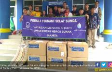 UMB Jakarta Kirim Bantuan untuk Pengungsi Korban Tsunami - JPNN.com
