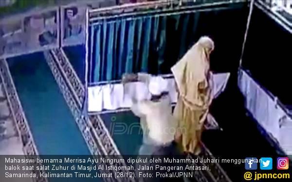 Inilah Pengakuan Pria Pemukul Mahasiswi saat Salat di Masjid - JPNN.com