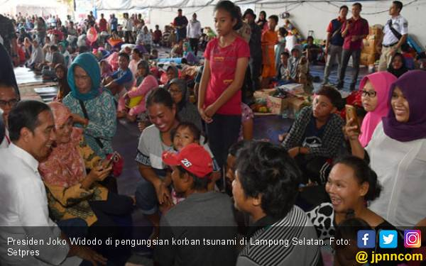 Dikunjungi Jokowi, 90 Persen Korban Tsunami Minta Relokasi - JPNN.com