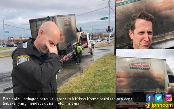 Truk Krispy Kreme Terbakar, Pak Polisi Berduka - JPNN.com