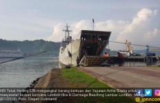 KRI Teluk Hading Angkut Bantuan untuk Korban Bencana Lombok - JPNN.com