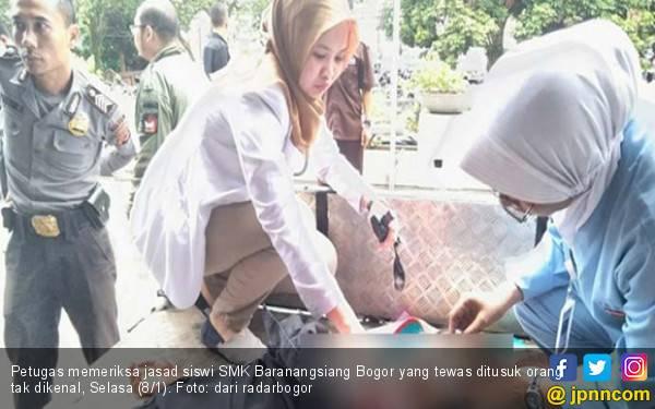 Siswi SMK Bogor Tewas, Luka Tusuk di Dada Sedalam 22 Cm - JPNN.com