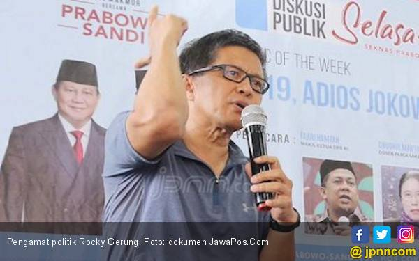 Adios Jokowi, Elektabilitasnya Tergerus Rocky Gerung? - JPNN.com