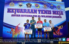 Mabesal Sapu Bersih Medali Ganda Putri Kejuaraan Tenis Meja - JPNN.com