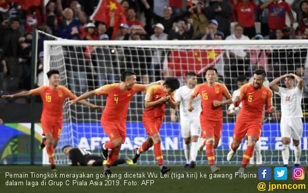 Pukul Filipina, Tiongkok Tembus 16 Besar Piala Asia 2019 - JPNN.com