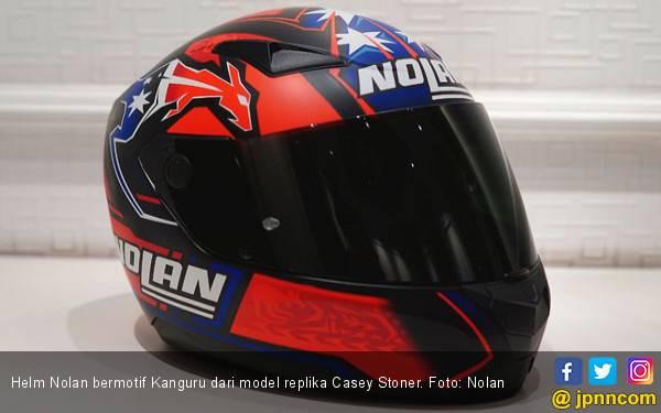 Helm Nolan Bermotif Kanguru Bagi Penggemar Casey Stoner - JPNN.com