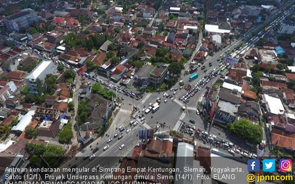 Ada Proyek Underpass di Simpang Empat Kentungan, Sabar ya - JPNN.com