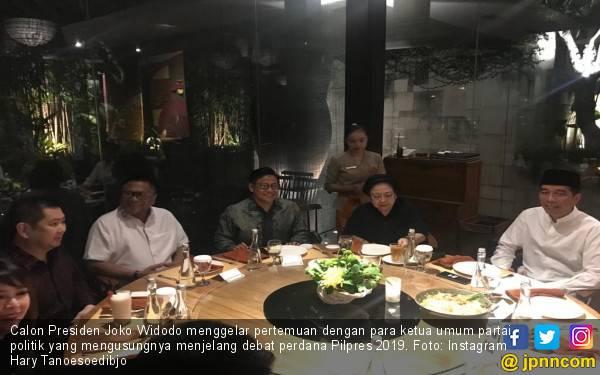 Jelang Debat Pilpres 2019, Jokowi Bertemu Ketum Parpol - JPNN.com