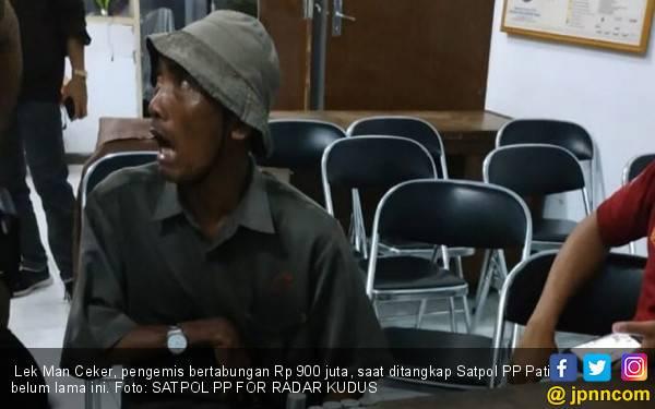 Misteri Man Ceker, Pengemis Punya Tabungan Rp 900 Juta - JPNN.com