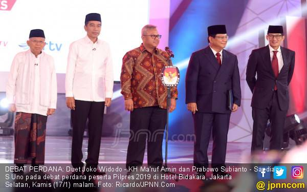 Riset G-Comm: Jokowi - Kiai Ma'ruf Ungguli Prabowo - Sandiaga di Medsos - JPNN.com