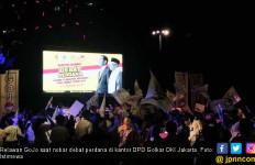 Nobar Debat Capres, Relawan GoJo Teriak Jokowi Menang - JPNN.com
