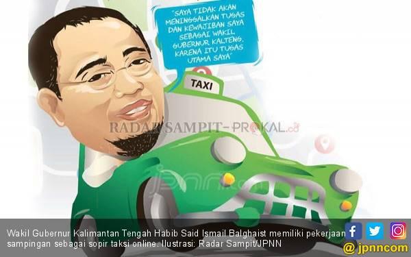 Heboh! Wakil Gubernur Kalteng Nyambi Jadi Sopir Taksi Online - JPNN.com