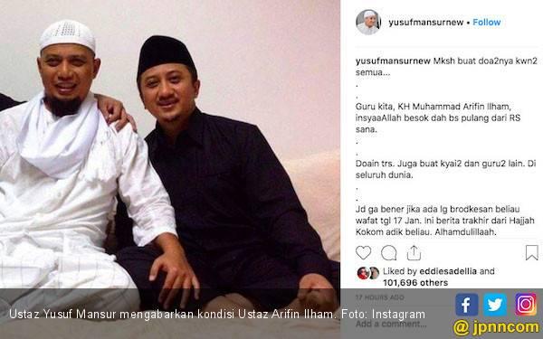 Ustaz Arifin Ilham Sudah Diizinkan Keluar dari Rumah Sakit - JPNN.com