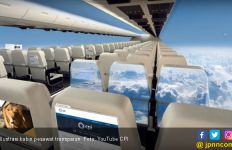 Apa Rasanya Terbang dengan Kabin Pesawat Transparan - JPNN.com