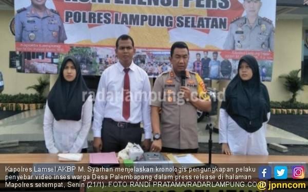 Penyebar Video Panas Ayah dan Anak di Lampung Resmi Jadi Tersangka - JPNN.com