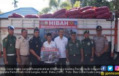 Bea Cukai Kuala Langsa Hibahkan 630 Karung Bawang Merah - JPNN.com