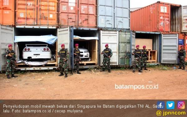 Begini Modus Penyeludupan Mobil Mewah Eks Singapura ke Batam - JPNN.com