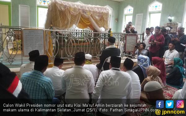 Kiai Ma'ruf Amin Ziarah ke Makam Arsyad Al-Banjari - JPNN.com