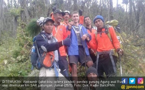 Sempat Hilang, WNA Rusia Pendaki Gunung Agung Ditemukan Terluka - JPNN.com