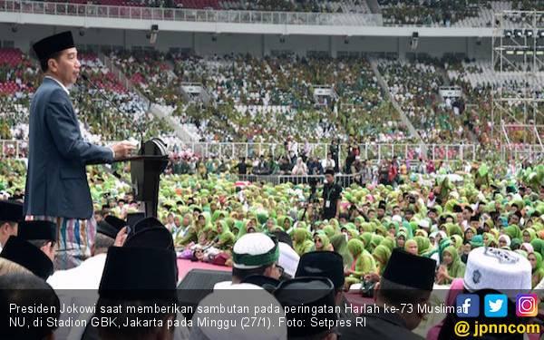 Jokowi Doakan Muslimat NU Makin Jaya, Indonesia Makmur - JPNN.com