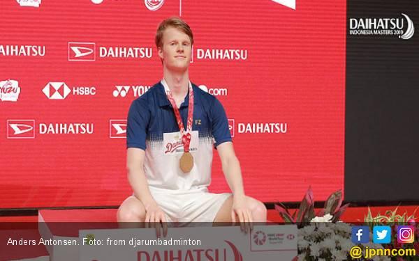 Anders Antonsen, Bule Denmark yang Tak Percaya Bisa Juara di Istora - JPNN.com
