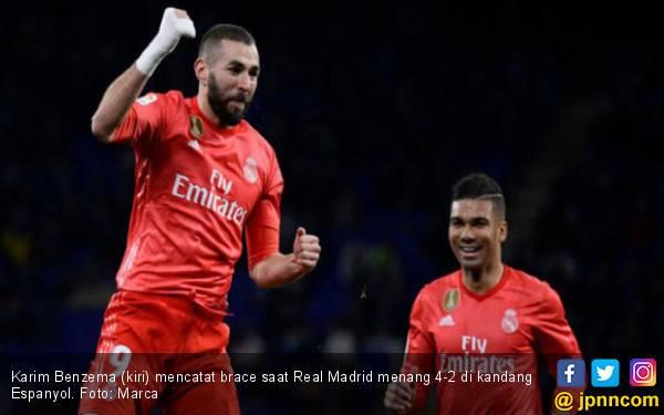 Benzema Bersinar, Real Madrid Menang di Kandang Espanyol - JPNN.com