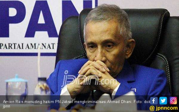 Amien Rais Tuding Hakim PN Jaksel Mengkriminalisasi Ahmad Dhani - JPNN.com