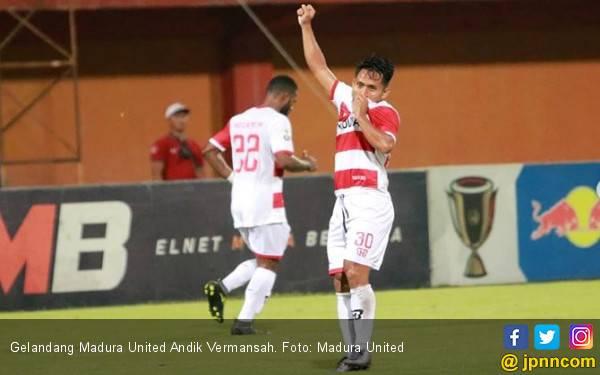 Andik Vermansah Spesialis Kapten Madura United Kontra Persebaya - JPNN.com