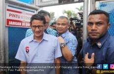 Jenguk Ahmad Dhani, Sandi Berjanji Bakal Rombak UU ITE - JPNN.com